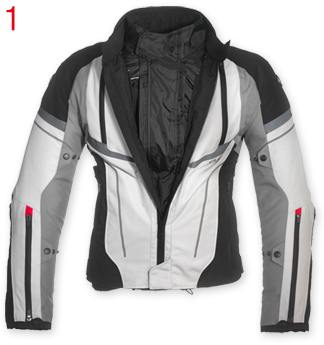 Interceptor WP 4 Jackets in 1 Grey Black Waterproof - Click Image to Close